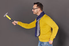 Man with hammer Royalty Free Stock Photo