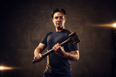 Man with hammer Royalty Free Stock Photography