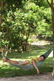 Man in a hammock Royalty Free Stock Photo