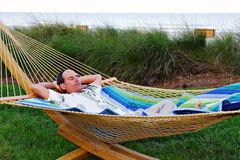 Man in Hammock Stock Photo