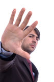 Man with hand Stock Image