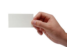 Man hand with card Stock Photo