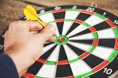 Man hand darts royalty free stock images