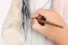 Man hand drawing picture Stock Photo