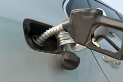 Man hand fill up fuel at gas station Royalty Free Stock Photos
