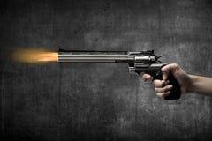 Man Hand Firing Gun Royalty Free Stock Image