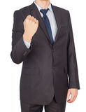 Man hand fist suit Stock Image