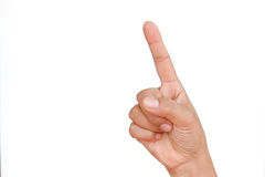 Man hand forefinger. Indicating of the direction Royalty Free Illustration