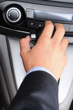 Man with Hand on Gear Shifter Royalty Free Stock Images