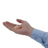 Man hand geeft sim kaarten Royalty-vrije Stock Afbeelding