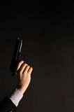 Man hand with a gun Royalty Free Stock Images