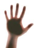 Man hand (hallo!) royalty-vrije stock afbeeldingen