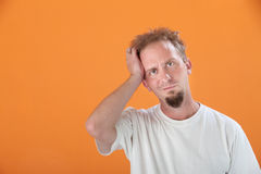 Man With Hand on Head Royalty Free Stock Photos