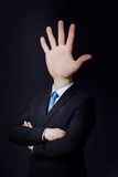 Man with Hand Head Royalty Free Stock Photos