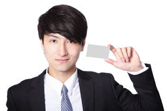 Man hand hold empty business card Stock Photography