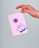 Man hand hold love you card Royalty Free Stock Image