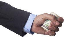 Man Hand Holding Roll Royalty Free Stock Photography