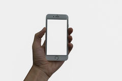A man hand holding Smart phone Stock Images