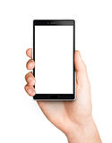 Man hand holding the smartphone Stock Photography