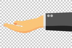 Man Hand - Holding, Take, give or Receive Something, at Transparent Effect Background. Vector Man Hand - Holding, Take, give or Receive Something, at Transparent Royalty Free Stock Photography
