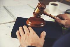Man hand judge on book royalty free stock image