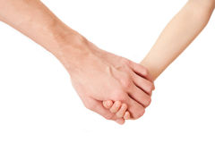 A man hand and kid's hand Stock Image