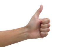 Man hand  make a thumb up Royalty Free Stock Photo