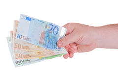 Man hand with money Stock Images