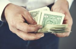 Man hand money royalty free stock photos