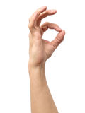 Man hand in OK sign isolated Royalty Free Stock Photo