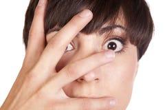Man Hand Over Face Stock Photos