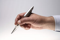 Man Hand with a pen Royalty Free Stock Images
