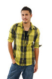 Man with hand in pocket Royalty Free Stock Photo