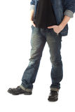 Man with hand in pocket Stock Photography