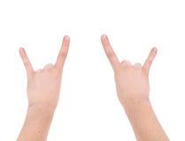 Man hand rock sign. Stock Photography