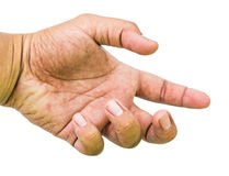 Man hand showing Royalty Free Stock Photos