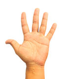 Man hand showing the five fingers Royalty Free Stock Photo