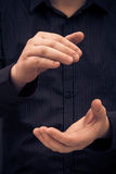 Man hand showing size applauding Royalty Free Stock Images