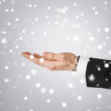 Man hand showing something Royalty Free Stock Images