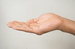Man hand sign. Background Stock Photos