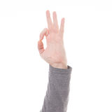 Man hand sign isolated Stock Photo
