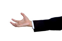 Man hand sign in suit  isolated Royalty Free Stock Images