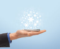 Man hand with smartphone Royalty Free Stock Image
