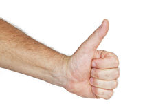 Man hand with thumb up Stock Photography