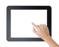Free Man Hand Touching Screen Royalty Free Stock Photography - 26526837