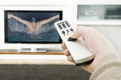 Man Hand Using Remote Control Royalty Free Stock Image