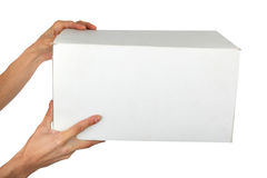 Man Hand With A Box Royalty Free Stock Images