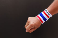 Man hand with wristband Stock Photography