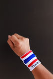 Man hand with wristband Royalty Free Stock Photos