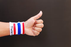 Man hand with wristband Royalty Free Stock Photo